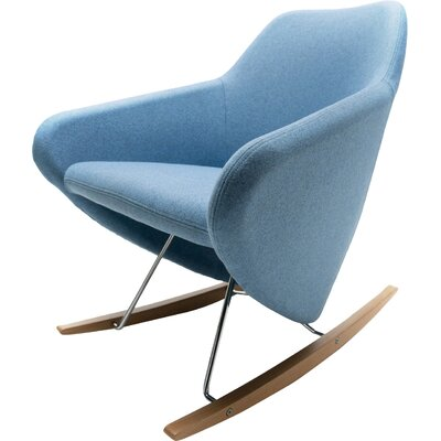 Taxido Rocking Chair with Headrest Frame Color: Dark Walnut, Upholstery: Momentum Beeline VinylEclipse