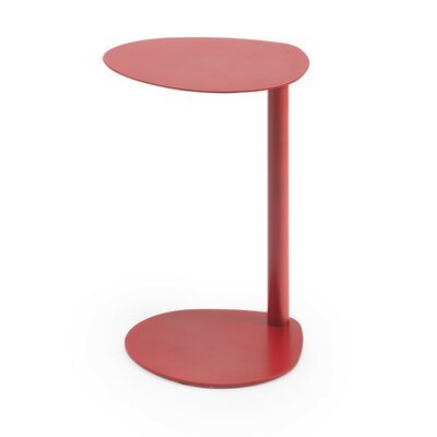 Burgan Pedestal Telephone Table (Set of 2) Color: Red