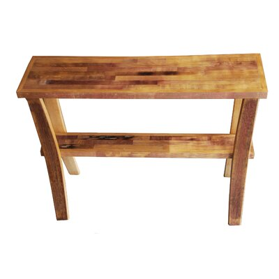 Wine Barrel Console Table