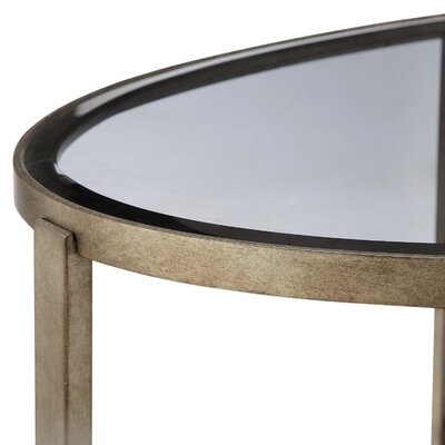 Riverdale Contemporary Demilune Console Table