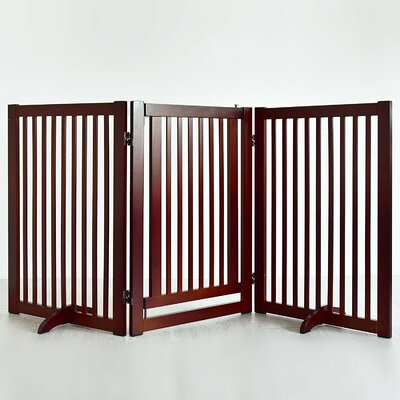 Griffin Pet Gate with Small Door Finish: Cherry