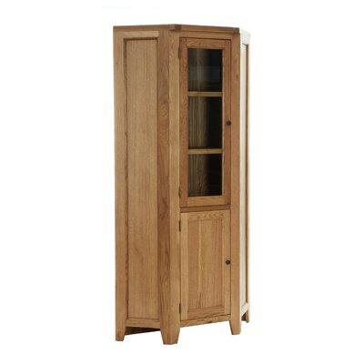 Alpen Home Millais Petite Solid Oak Corner Display Cabinet