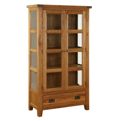 Alpen Home Millais Premium Solid Oak Display Cabinet