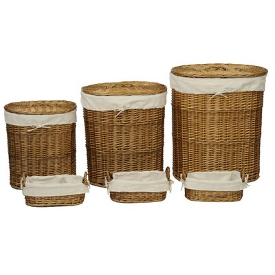 Alpen Home 6 Piece Storage Basket Set with Calico Lining