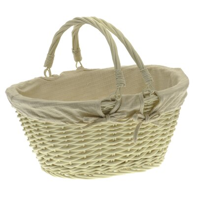 Alpen Home Storage Shopping Basket with Cream Lining