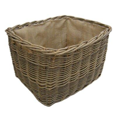 Alpen Home Piegan Extra Large Rectangular Lined Log Basket