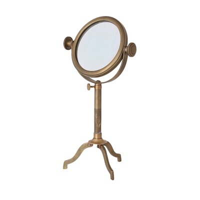 Alpen Home Industrial Decor Petty Magnifier on Stand Sculpture
