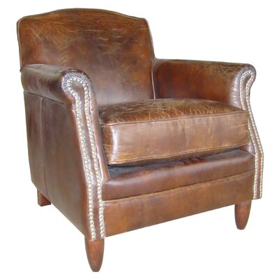 Alpen Home Colorado Springs Studded Front Leather Armchair