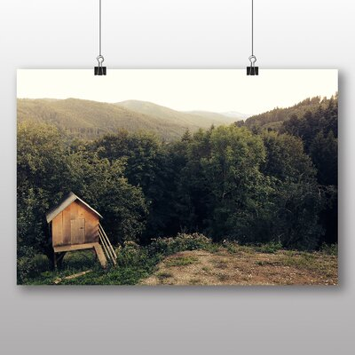 Alpen Home Hut in Forest Photographic Print
