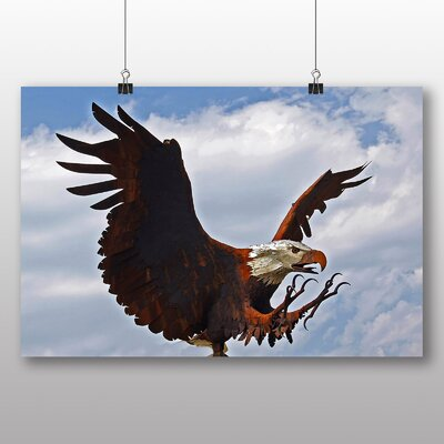 Alpen Home Wooden Eagle Photographic Print on Canvas