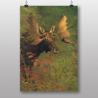 Alpen Home Study of a Moose by Albert Bierstadt Photographic Print