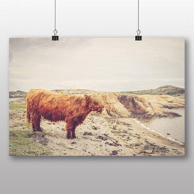Alpen Home Orange Bull Cow Photographic Print