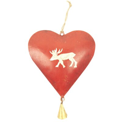 Alpen Home Heart with Bell Hanging Figurine