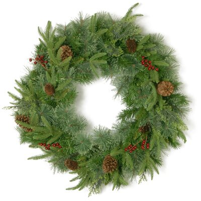 Alpen Home Cinnabar Cleveland 61cm; Pinecone and Red Berry Wreath
