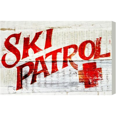 Alpen Home Ski Patrol by Blakely Home Vintage Typography on Canvas