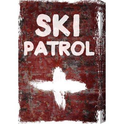 Alpen Home SKI Patrol Typography on Canvas