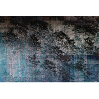 Alpen Home Night Forest Graphic Art on Canvas