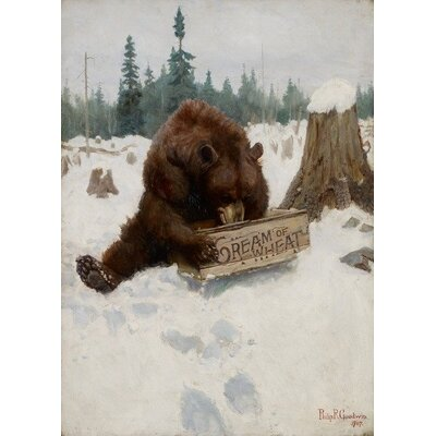 Alpen Home A 'Bear' Chance, 1907 by Philip Russell Goodwin Framed Art Print