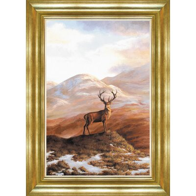 Alpen Home Gannett Lonely Stag Framed Art Print