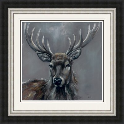 Alpen Home Stag Framed Art Print