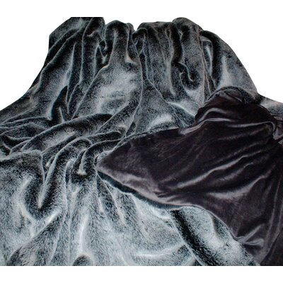 Alpen Home Abequa Arctic Wolf Throw with Cuddle Soft Velboa