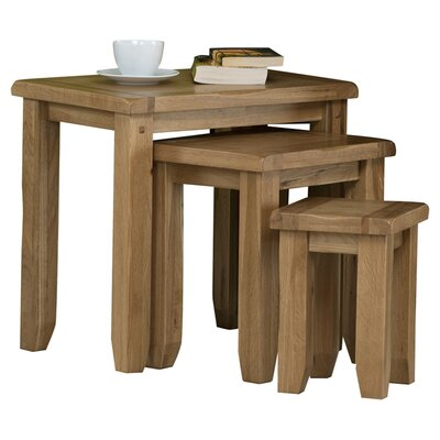 Alpen Home Pine Tree 3 Piece Nest of Tables