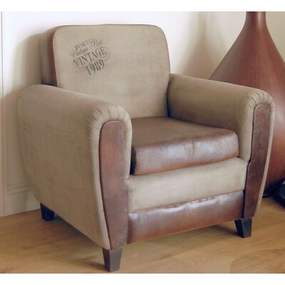 Alpen Home Beaver Canvas and Leather Lounge Chair
