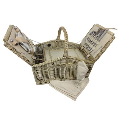 House Additions Double Lidded 4 Person Picnic Basket