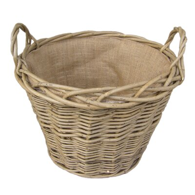House Additions Lined Log Basket in Green Ash