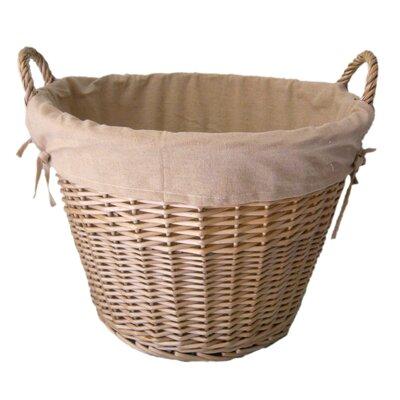 House Additions Lined Log Basket