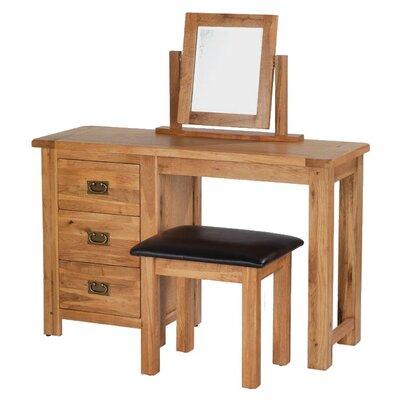 Prestington Heritage 3 Drawer Dressing Table Set with Mirror