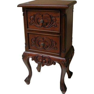 Prestington Mahogany 2 Drawer Locker Bedside Table in Mahogany