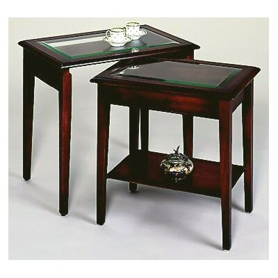 Prestington Tarporley Glass Top 2 Piece Nest of Tables