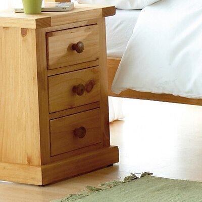 Prestington 3 Drawer Bedside Table