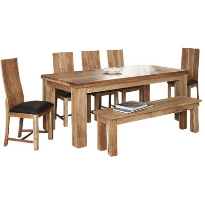 Prestington Clooney Dining Table and 4 Chairs and Bench