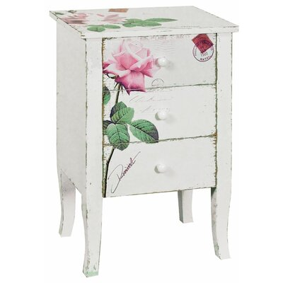 Château Chic 3 Drawer Bedside Table