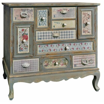Château Chic Patchwork 11 Drawer Chest