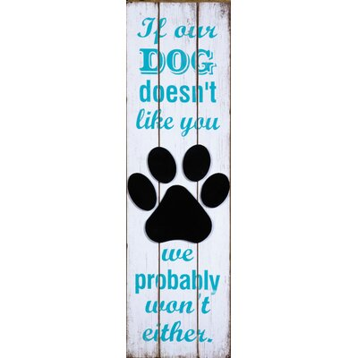 ChâteauChic If Our Dog Typography Plaque