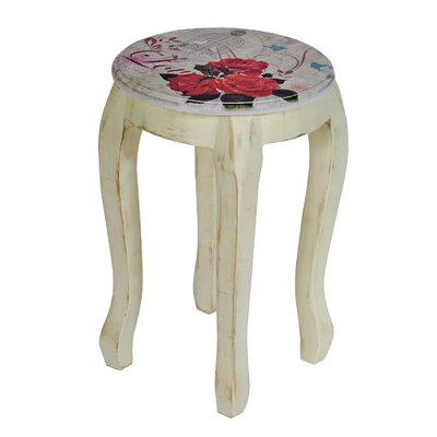 Château Chic Love Roses Wood Decorative Stool