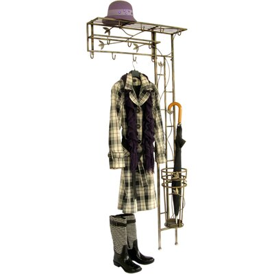 ChâteauChic Energicus Wardrobe Wall Mounted Coat Rack with Umbrella Stand