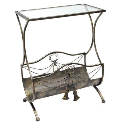 ChâteauChic Side Table with Newspaper Holder