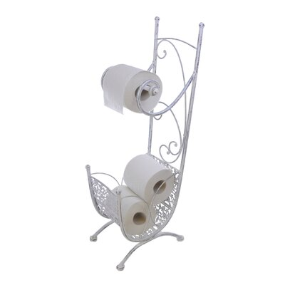 ChâteauChic Freestanding Steel Toilet Roll Holder