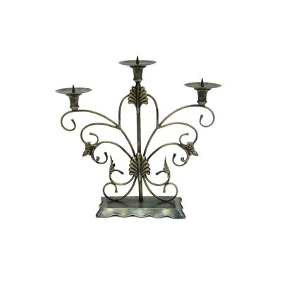 Château Chic Energicus Steel Candelabra