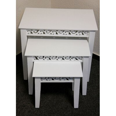 Château Chic Romantic 3-Piece Nesting Table Set