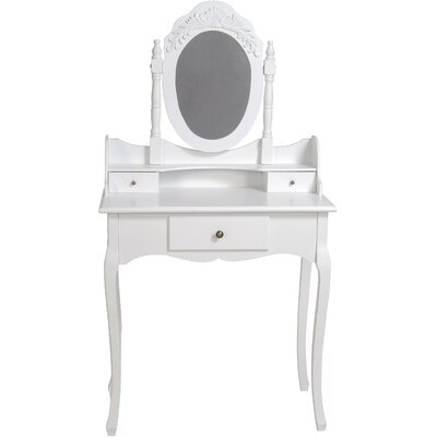 ChâteauChic Elegance Dressing Table with Mirror