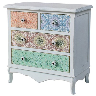 ChâteauChic Paisley 4 Drawer Chest of Drawers