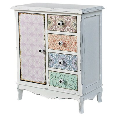 ChâteauChic Paisley 1 Door 4 Drawer Chest of Drawers