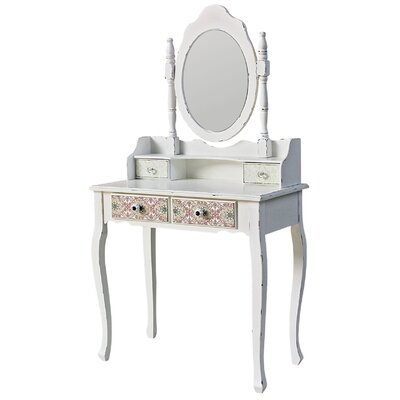 ChâteauChic Paisley Dressing Table with Mirror