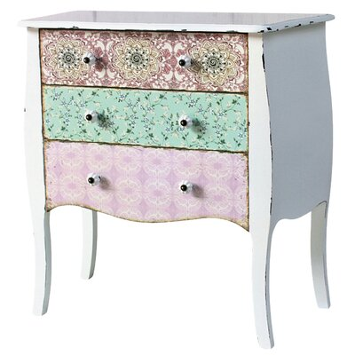 Château Chic Paisley 3 Drawer Chest of Drawers