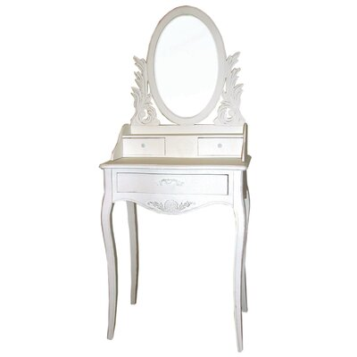 Château Chic Meridian Dressing Table with Mirror